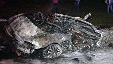 Иномарка выгорела дотла после ДТП, где погибли пять человек