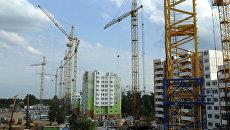 Строительство жилого комплекса в Химках. Архивное фото