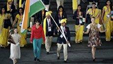 Делегация Индии на церемонии открытия Олимпиады в Лондоне