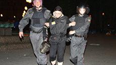 Более десяти человек задержаны в лагере оппозиции на Баррикадной