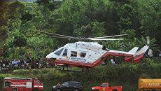 Поисковая операция на месте крушения лайнера Sukhoi SuperJet-100