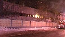 Пожар несколько часов бушевал на территории Горьковского автозавода