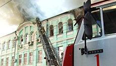 Жилой дом загорелся в историческом центре Самары. Видео с места ЧП