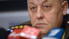Начальник Генштаба Вооруженных сил РФ, генерал армии Юрий Балуевский во время пресс-конференции. Архив