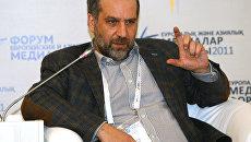 Руководитель медиа-лаборатории РИА Новости Василий Гатов принимает участие в дискуссионной сессии Ежегодного форума европейских и азиатских медиа в Астане