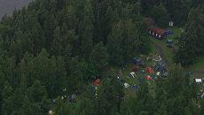 Молодежный лагерь под Осло, где неизвестный мужчина открыл стрельбу 22 июля 2011 года