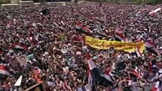 Сотни тысяч сирийцев вышли на улицы Дамаска в поддержку режима Асада