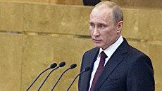 Путин рассказал депутатам о планах повышения зарплат бюджетникам