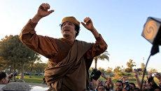 Муамар Каддафи у своей резиденции в Триполи. Фото от 10 апреля 2011 года