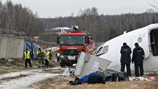 На месте аварийной посадки Ту-154 в Домодедово. Архив