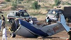 Пассажирский самолет рухнул на землю сразу после взлета