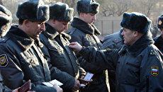 Общегородской строевой смотр милиционеров