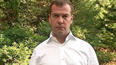 Медведев приостановил строительство дороги в Химкинском лесу