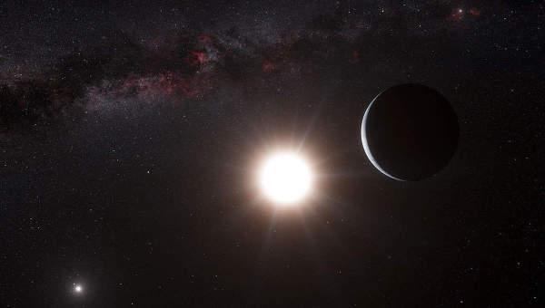 Планета звезды альфа Центавра B глазами художника