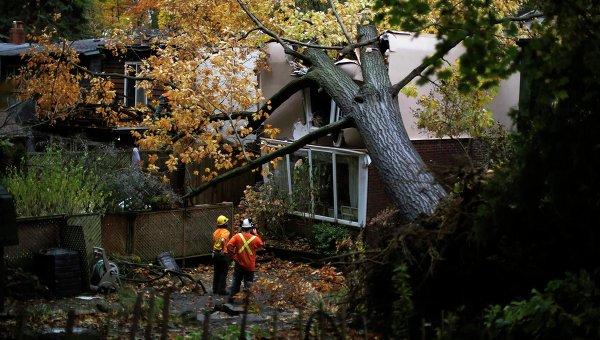 Последствия урагана Сэнди в восточной части Торонто, Канада