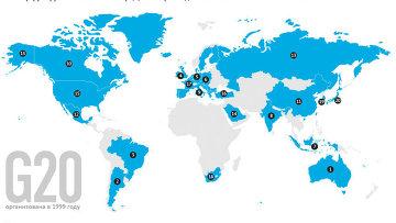Группа двадцати: участники и принципы деятельности