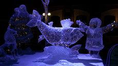 Работа «Чудесное детство» на международном фестивале ледовой скульптуры «Полярная рапсодия»