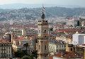 Вид на старую часть города в Ницце. Архив