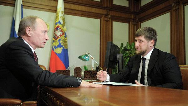 В.Путин встретился в Сочи с Р.Кадыровым