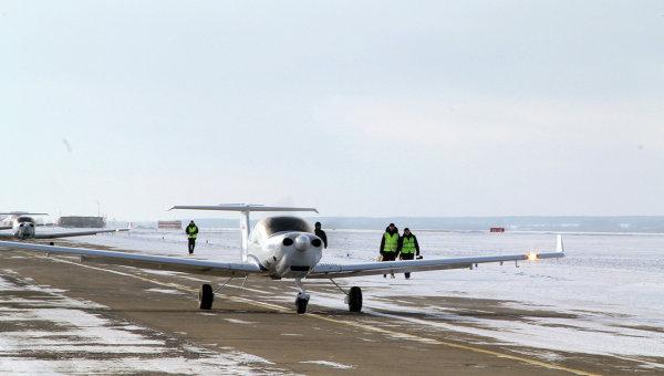 Австрийский самолет Diamond, на котором проходят летную практику в УВАУГА