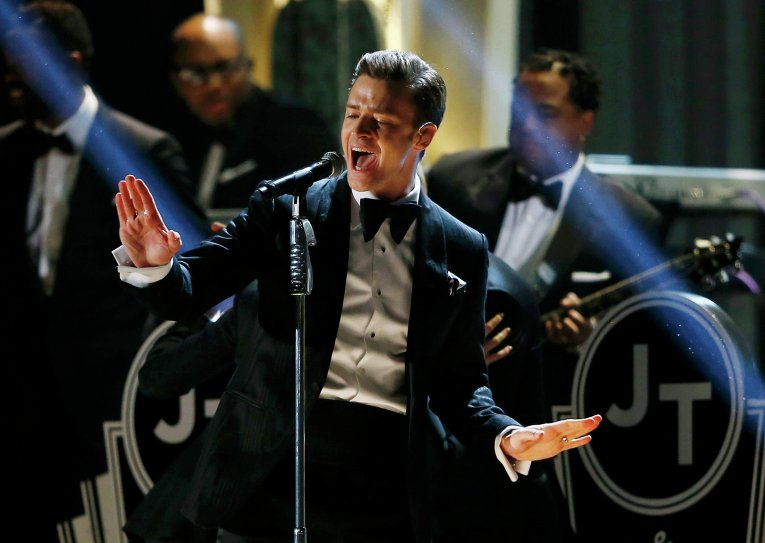 Джастин Тимберлейк на церемонии вручения премии Грэмми
