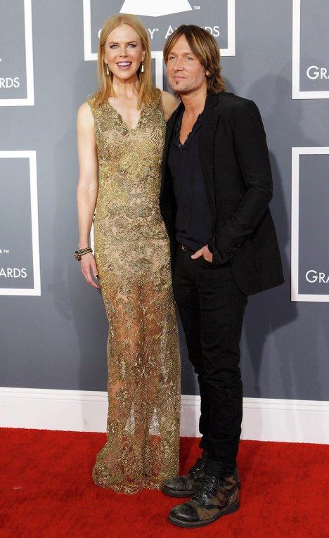 Николь Кидман и ее муж Кит Урбан на церемонии вручения премии Грэмми