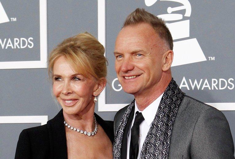 Стинг и его жена Труди Стайлер на церемонии вручения премии Грэмми