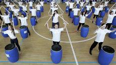 Репетиция церемонии торжественного открытия Универсиады 2013