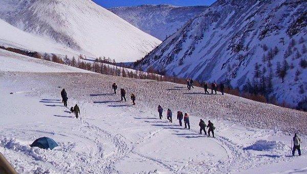 Спасатели в горах. Архивное фото