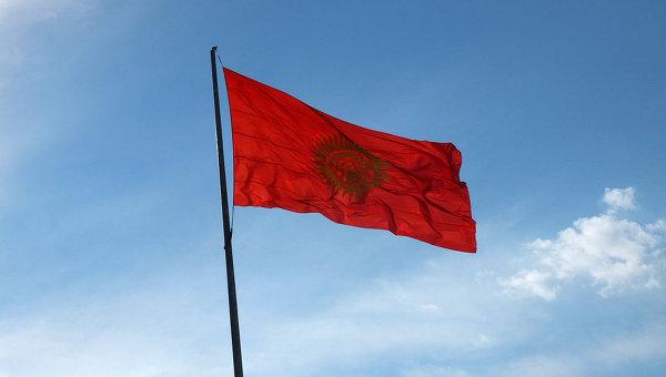 Флаг Киргизии. Архивное фото