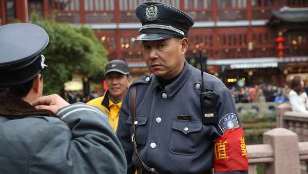 Полицейский в Китае. Архивное фото