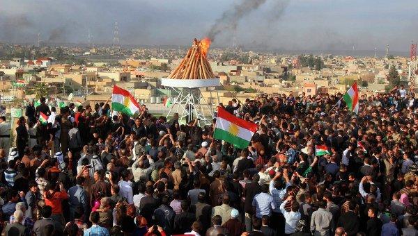 Празднование Навруза в Иракском Курдистане. Архивное фото