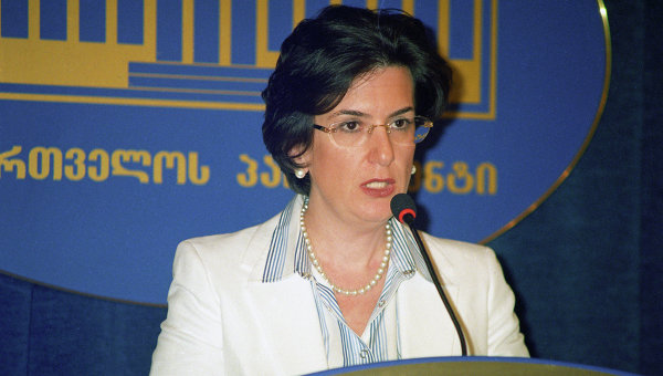 Спикер парламента Грузии Нино Бурджанадзе. Архивное фото