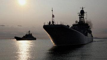 Большие десантные корабли ВМФ РФ. Архивное фото