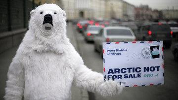Акция Greenpeace в Санкт-Петербурге. Архивное фото