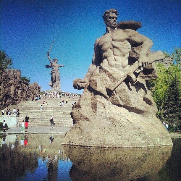 Мамаев Курган в День Победы 9 мая, Волгоград