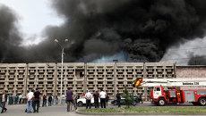 Пожар на складе компании Спайка в Ереване