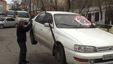 Порванная куртка и 50 наклеек: во Владивостоке прошёл рейд Стопхам