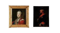Портреты Фридриха II Великого и императрицы Екатерины II кисти неизвестного мастера