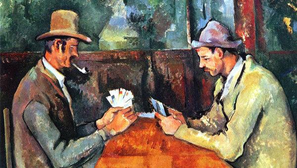 Картина Поля Сезанна Игроки в карты из собрания лондонского Института Курто