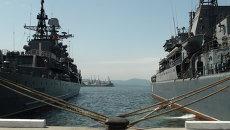 Проводы кораблей ТОФ в Поход памяти