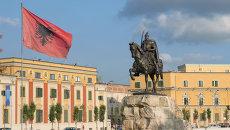 Флаг Албании. Архивное фото