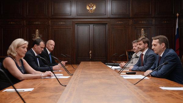 Встреча Сергея Нарышкина и Мари Ле Пен. Архивное фото