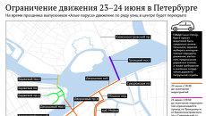Ограничение движения в Петербурге в связи с праздником Алые паруса