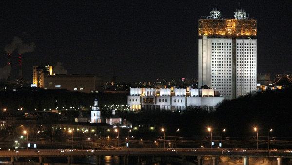 Здание президиума РАН на Воробьевых горах