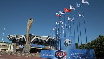 Перед открытием Международного военно-морского салона в Петербурге. Архивное фото