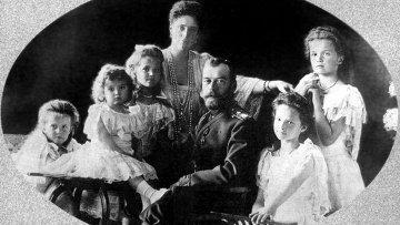 Император Николай II с семьей