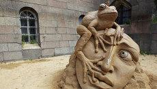 Выставка песчаных скульптур в Петербурге
