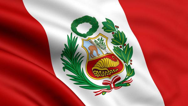 Флаг Перу. Архивное фото