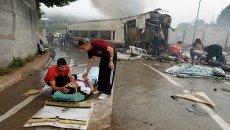 Пострадавшие при крушении поезда в Испании